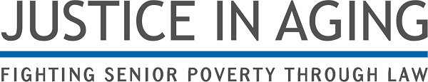 Logo Text: Justice in Aging. Fighting Senior Poverty through Law