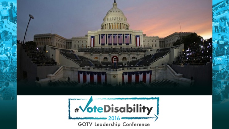 #VoteDisability Conference Logo click  here to  learn more about a  free scholarship ticket  to the conference